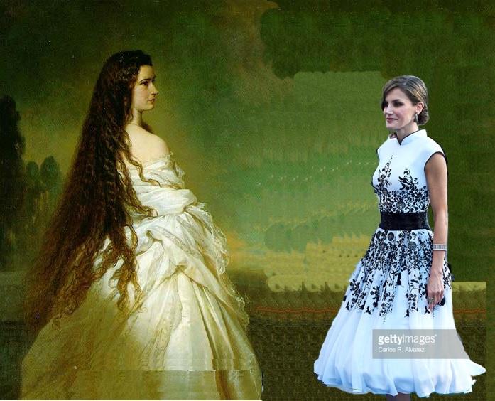 Fotomontaje Sisi y Letizia