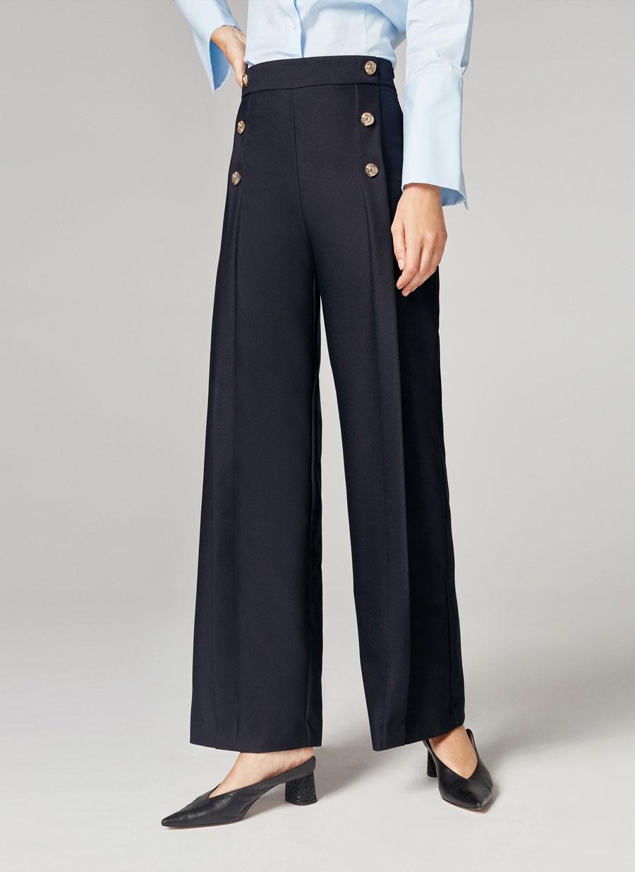 FOTO 15: Modelo pantalones anchos de botones dorados
