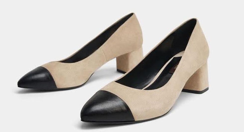 FOTO #9: Zapatos bicolor negro y beige
